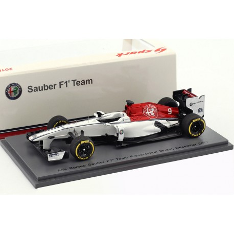 alfa romeo sauber f1 2018 pr sentation spark s6051 miniatures minichamps. Black Bedroom Furniture Sets. Home Design Ideas