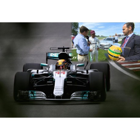 2 car set Senna Hamilton 65th Pole Position Record San Marino 1994 Canada 2017 Minichamps 412659417