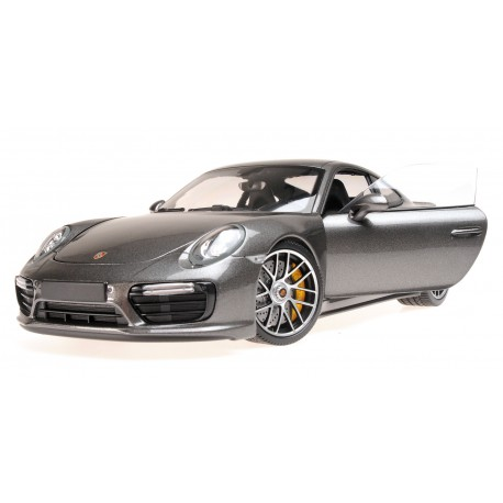 Porsche 911 Turbo S 2016 Grey Metallic Minichamps 110067121
