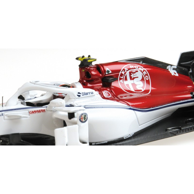 alfa romeo sauber ferrari c37 f1 2018 charles leclerc minichamps 417180016 miniatures minichamps. Black Bedroom Furniture Sets. Home Design Ideas
