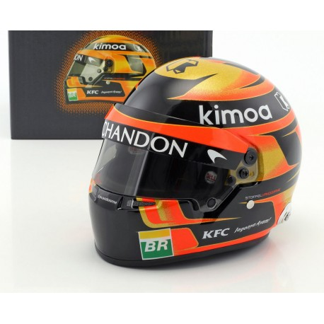 casque 1 2 stoffel vandoorne f1 2018 bell miniatures minichamps. Black Bedroom Furniture Sets. Home Design Ideas
