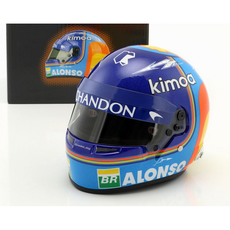 casque 1 2 fernando alonso f1 2018 bell miniatures minichamps. Black Bedroom Furniture Sets. Home Design Ideas