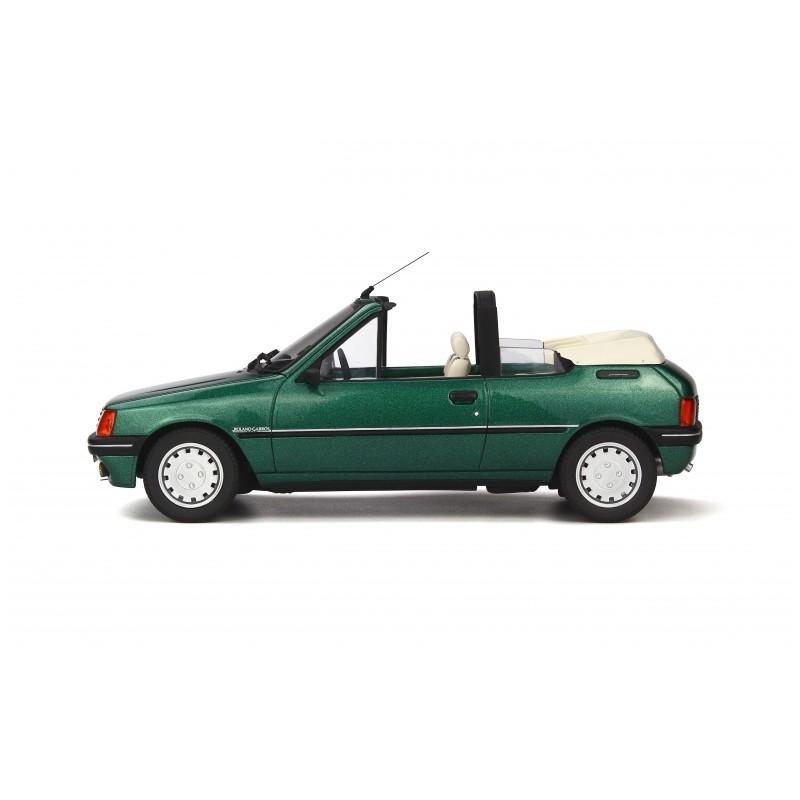 peugeot 205 cabriolet roland garros green metallic 1989 ottomobile ot733 miniatures minichamps. Black Bedroom Furniture Sets. Home Design Ideas