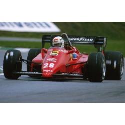 Ferrari 126 C4 F1 Belgique 1984 Michele Alboreto Looksmart LSF1H05