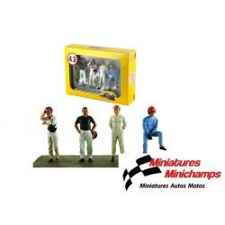Figurines 1/43 Set of 4 Drivers LeMans Miniatures LMCOFLM143001