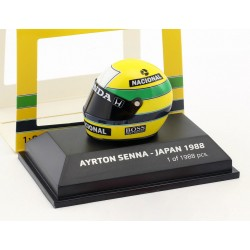 Casque 1/8 Ayrton Senna F1 World Champion Japon 1988 Minichamps 543380812