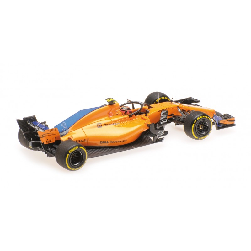 mclaren renault f1 showcar 2018 stoffel vandoorne minichamps 537189302 miniatures minichamps. Black Bedroom Furniture Sets. Home Design Ideas