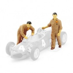 Figurines F1 1/43 Mécaniciens Ferrari 1961 Moving the car Brumm F074