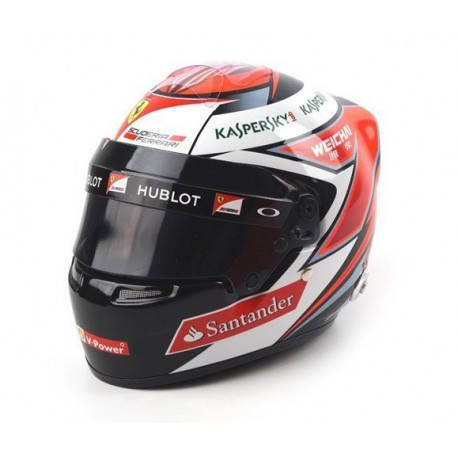 casque 1 2 kimi raikkonen f1 2015 sports mini line miniatures minichamps. Black Bedroom Furniture Sets. Home Design Ideas
