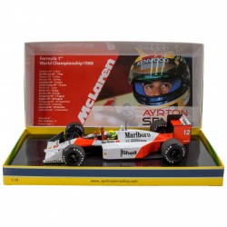Coffret Ayrton Senna F1 World Champion 1988 McLaren Honda MP4/4 Minichamps 543881892