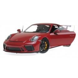Porsche 911 GT3 2017 Rouge avec jantes noires Minichamps 110067020