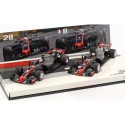 Cars Set Haas Ferrari VF17 F1 Australie 2017 Grosjean Magnussen Minichamps 447170820
