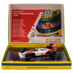 Coffret Ayrton Senna F1 World Champion 1988 McLaren Honda MP4/4 Minichamps 543884392