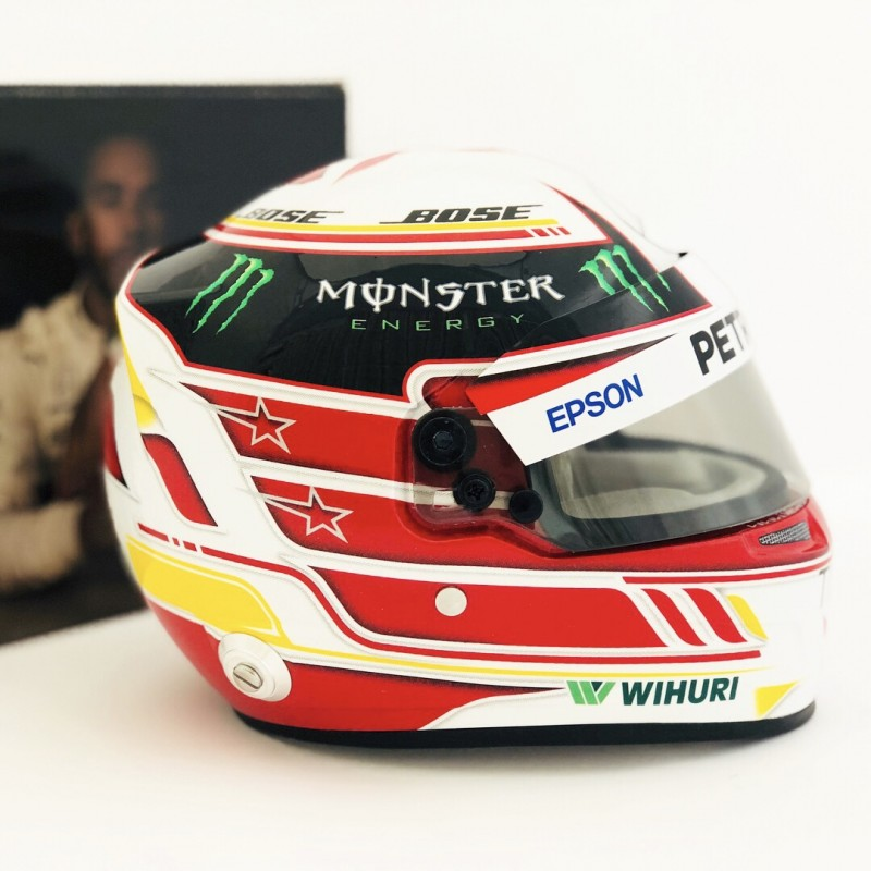 casque 1 2 lewis hamilton f1 2018 bell miniatures minichamps. Black Bedroom Furniture Sets. Home Design Ideas