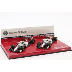Cars Set Sauber Ferrari C37 F1 2018 Leclerc Ericsson Minichamps 447180916