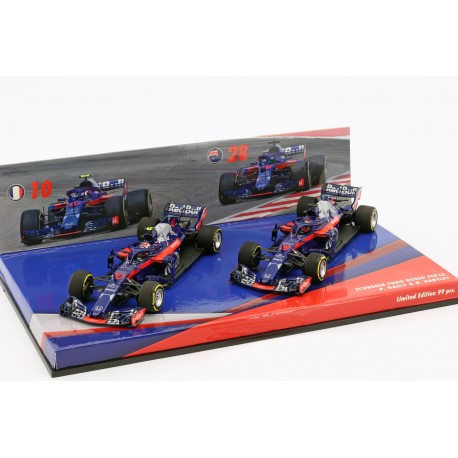 Cars Set Toro Rosso STR13 F1 2018 Gasly Hartley Minichamps 447181028