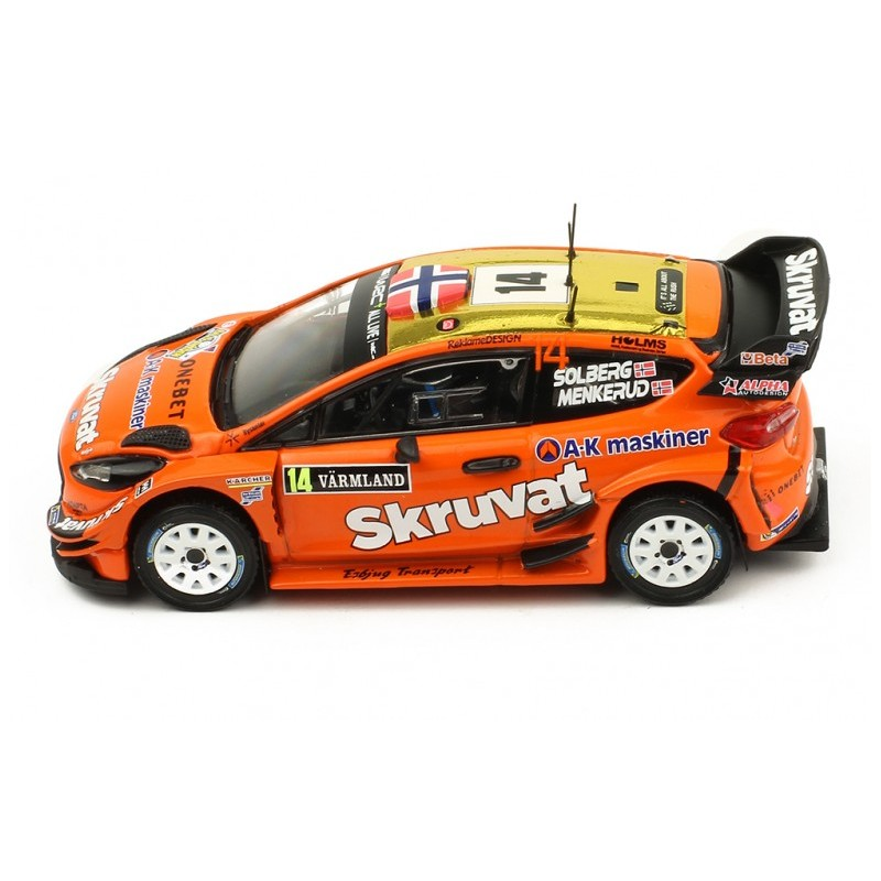 ford fiesta wrc 14 rallye de su de 2018 solberg menkerud ixo ram670 miniatures minichamps. Black Bedroom Furniture Sets. Home Design Ideas