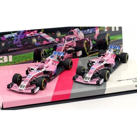 Cars Set Force India Mercedes VJM11 F1 2018 Ocon Perez Minichamps 447181131
