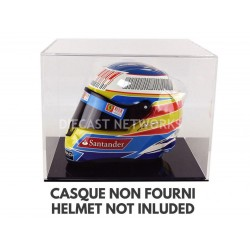 Boitier Showcase Casque Helmet 1/2 Socle noir Magic Dioramax BV2B