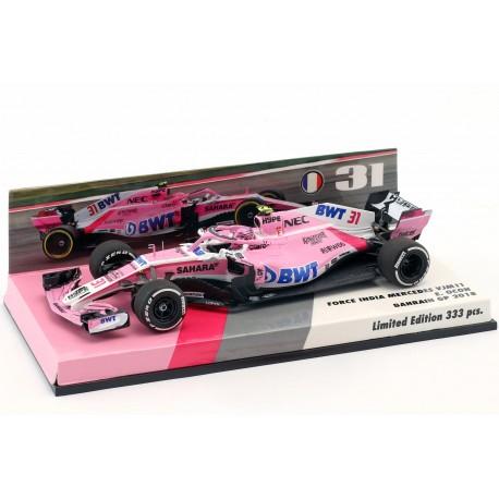 Force India Mercedes VJM11 F1 Bahrain 2018 Esteban Ocon Minichamps 447180031