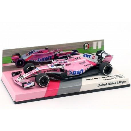 Force India Mercedes VJM11 F1 Bahrain 2018 Sergio Perez Minichamps 447180011