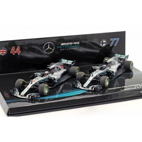 Cars Set Mercedes F1 W09 EQ Power+ F1 2018 Hamilton Bottas Minichamps 413184477
