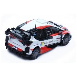 Toyota Yaris WRC Rallye de Suède 2017 Avec Decals Latvala Hanninen IXO RAM648