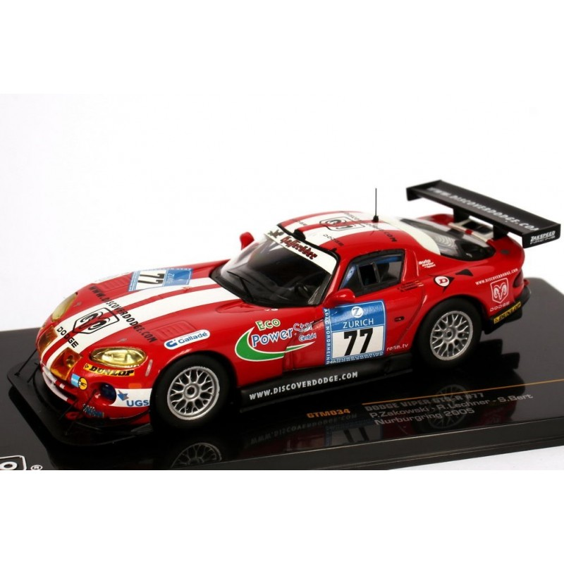 dodge viper gts r 77 24 heures du nurburgring 2005 ixo gtm034 miniatures minichamps. Black Bedroom Furniture Sets. Home Design Ideas