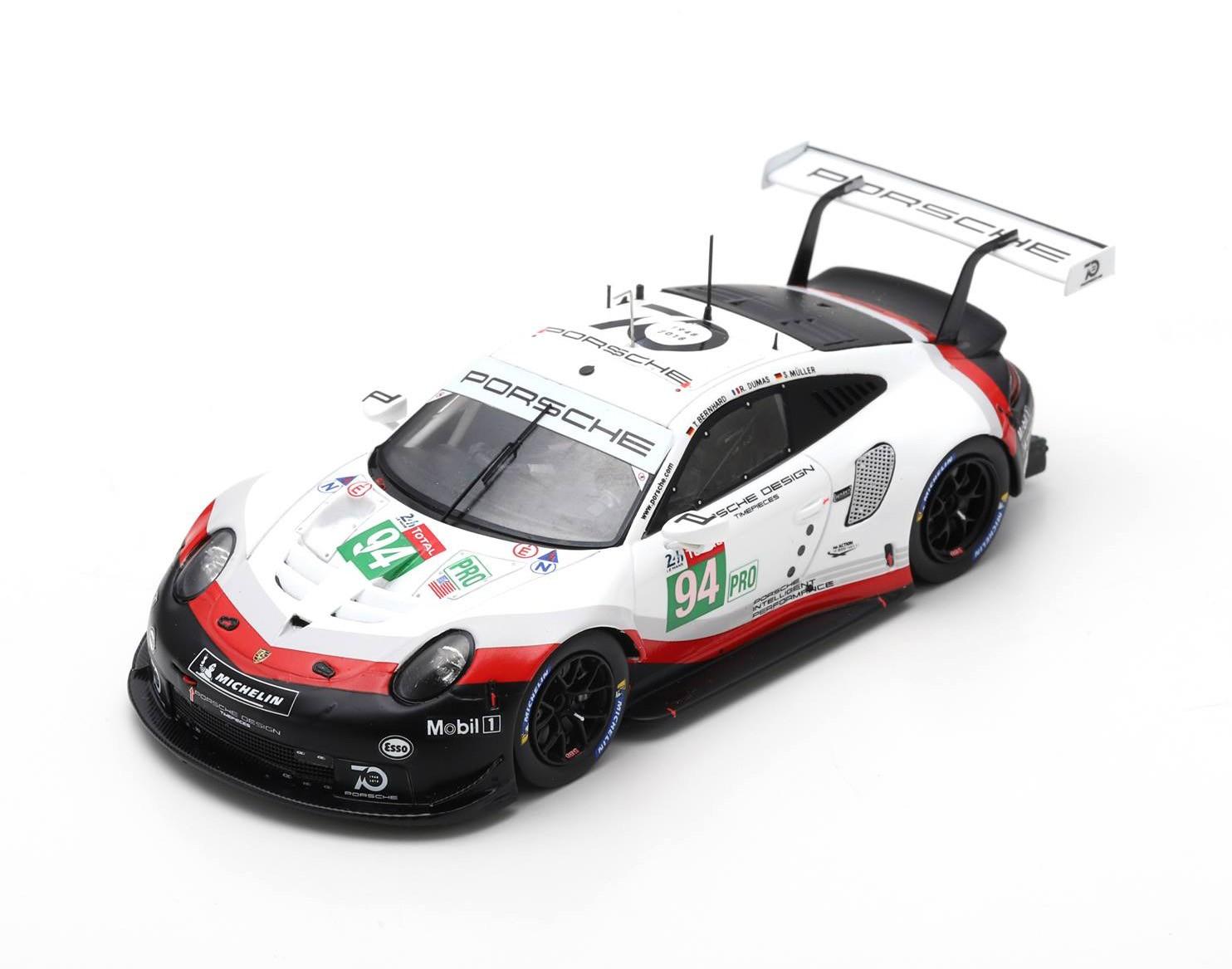 Porsche 911 RSR 94 24 Heures du Mans 2018 Spark S7035
