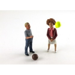 Figurine Tessa and Nils set of two children with balloons Le Mans Miniatures LMFLM118025