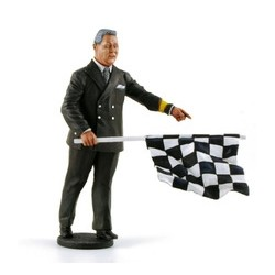 Figurine Race Director with Checkered Flag Le Mans Miniatures LMFLM118022