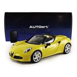 Alfa Romeo 4C Spider Yellow Autoart 70143