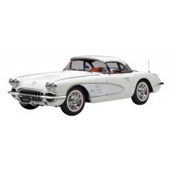 Chevrolet Corvette White Snowcrest 1958 Autoart 71147
