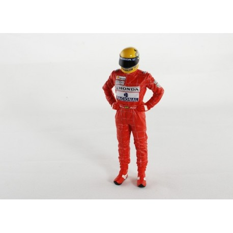 Figurine F1 Ayrton Senna Position debout Truescale TSM11AC04