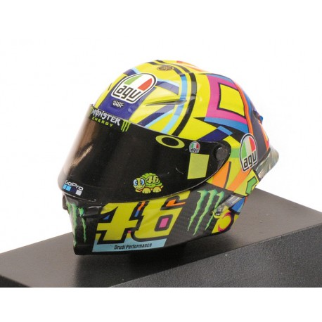 Casque 1/8 AGV Valentino Rossi Moto GP 2017 Minichamps 399170046