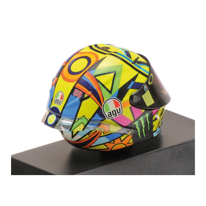 399170046 MINICHAMPS V.ROSSI AGV CASQUE MOTO GP 2017 1//8