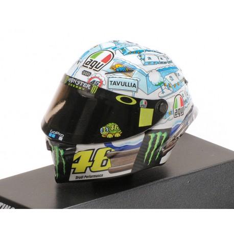 Casque 1/8 AGV Valentino Rossi Moto GP Test Sepang 2017 Minichamps 399170076