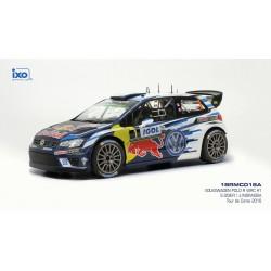 Volkswagen Polo R WRC 1 Tour de Corse 2016 Ogier Ingrassia IXO 18RMC018A