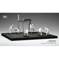 Set Pit Stop 1/43 White 6 figures with Decals and accessories IXO FIG004SET