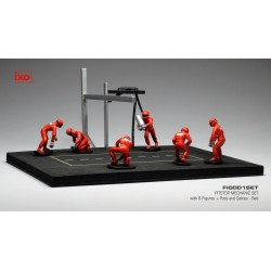 Set Pit Stop 1/43 Rouge 6 figures with Decals and accessories IXO FIG001SET
