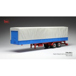 Auflieger Truck Trailer with Canvas Cover Grey Blue IXO TRL001