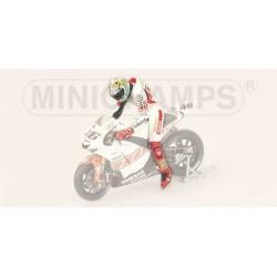 Figurine 1/12 Valentino Rossi Moto GP Valencia 2005 Minichamps 312050086