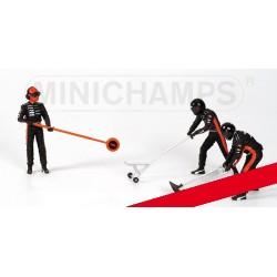 Jack Set Minardi 3 Figurines, 2 Jacks and 1 Signb 1/18 F1 2003 Minichamps 318100094