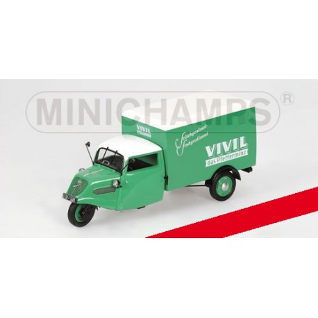 "Tempo 3-RAD Kastenwagen ""Vivil"" 1952 Green Minichamps 150099043"
