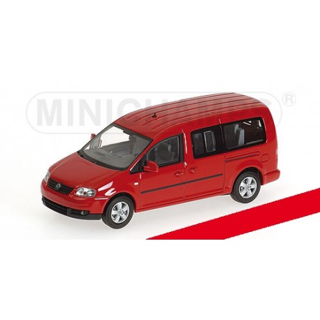 Volkswagen Caddy Maxi Shuttle 2007 Red Minichamps 400057000