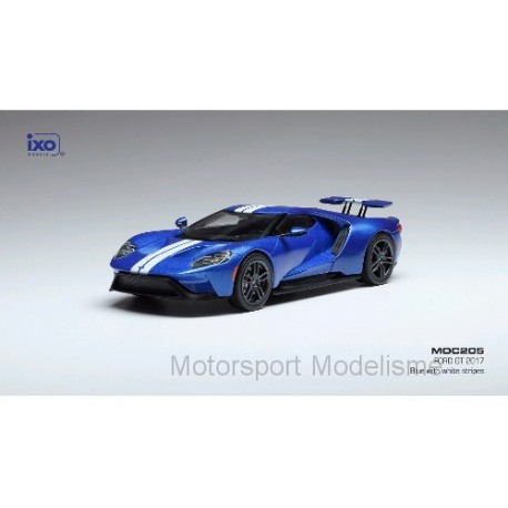 Ford GT GTLM 2017 Blue and Silver IXO MOC205