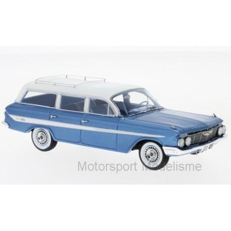 Chevrolet Nomad Station Wagon 1961 Metallic-Blue and White NEO NEO46966
