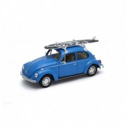 Volkswagen Beetle Surfboard 1972 Blue Welly WEL22436SB