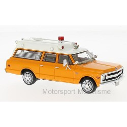 Chevrolet Suburban Ambulance 1970 Orange and white NEO NEO47245