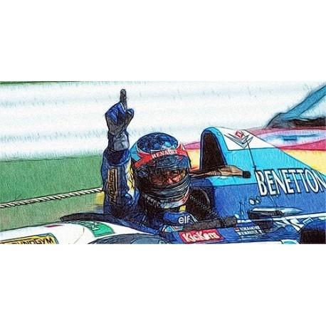 Benetton Renault B195 F1 Winner Allemagne 1995 Michael Schumacher Minichamps 510952701